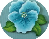 Pansy Pin/Magnet Spring Summer Flower Hand Painted Wood
