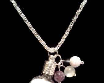 Baby Dust Necklace with moonstone blue lace agate amethyst