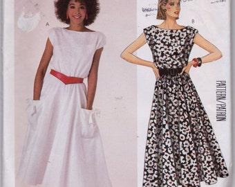 McCall's 2335 Misses' Dress Pattern, UNCUT, Size 10, Vintage, Retro, Summer, Work Wear, Flashback, 1986, Sleeveless