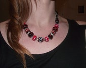Red Chunky Beaded Necklace