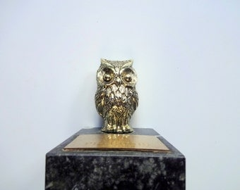 Vintage Owl Wisdom Is Precious Paperweight 1970s