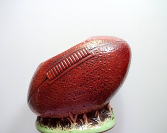 Vintage Football Shaped Planter 1960s