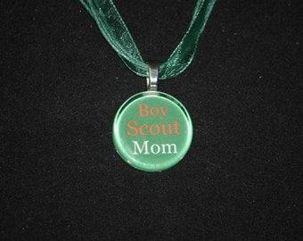 Necklace - Boy Scout Mom glass tile necklace