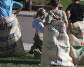 Burlap Coffee Bag, Potato Sack / Santa Sack / Large Gift Wrap Bag / Christmas Hide-it Bag
