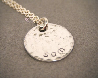 ONE DAY SALE Hand Stamped Jewelry, Personalized Necklace, Gift For Mom, Personalized Mom Necklace, Hand Stamped Necklace