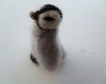 baby penguin needle felted