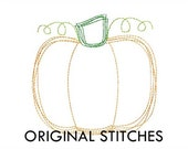 Quick Stitch Pumpkin Embroidery Digital Design File  4x4 5x7 6x10 7x11