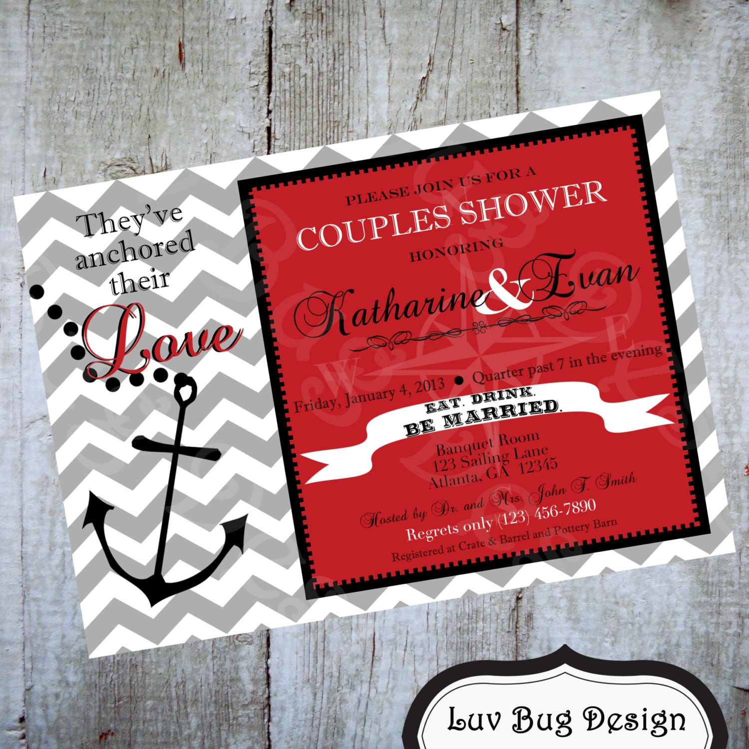 nautical themed bridal shower invitations - 28 images - unavailable ...