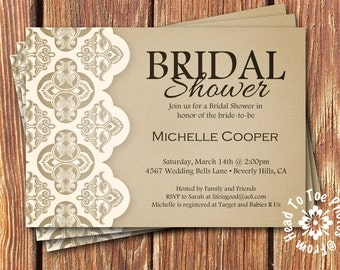 Shabby Chic Bridal Shower Invitations