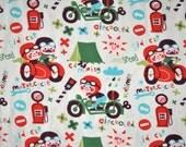 Organic Stretch Jersey fabric - Lillestoff - Good Old Time - 1/2 yard