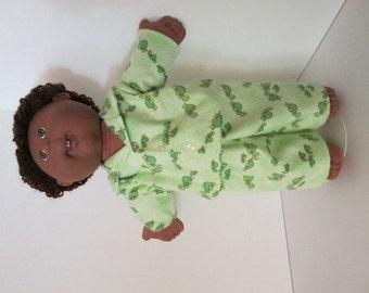 "16"" Boy Cabbage Patch Green Turtle Print Pajamas"