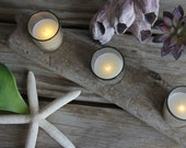 Glass Flameless Flickering Votive Candles (Set of 2)