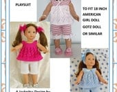 """13 American Girl Doll  Cream of the """"Crops"""" PJs or Playtime Sets PDF Knitting Pattern"""