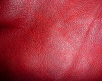 "Leather 12""x12"" PULL UP Red Distressed  Cowhide 3.5-3.75 oz /1.4-1.5 mm PeggySueAlso™ E2930-07"