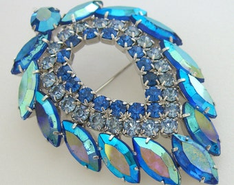 Juliana Blue Lagoon Brooch Pin D&E For Sarah Coventry 1960s Jewelry Book Piece