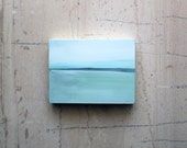 Small Seascape Ready to Hang  - Original Abstract Painting - Sea VIII - Light Blue - Light Green - Sage Green - Seascape - Ocean - Waters