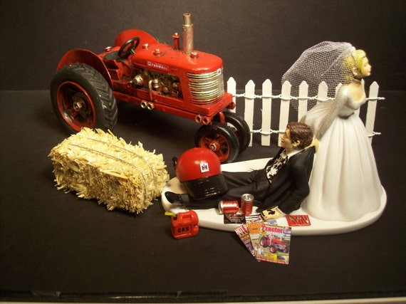 international tractor wedding cake topper no farming international harvester tractor ih and groom 16467