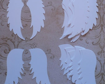 Sizzix Angel Wings Die Cuts Cardstock for crafts/ cards/ White for Angel Cards DIY projects etc...
