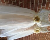 Ivory Junior Bridesmaid Tulle Dress with Lace Collar/ dresses for teens/ dress for tweens/ modest dress