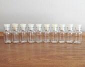 Vintage Glass Spice Jars Bottles