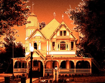 Mount Dora Historic 'Donnelly House' Ornate Victorian Surreal Pop Digital Art Signed Fine Art Photography Print