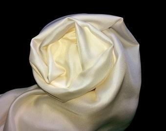 Cream/White Silk Twill
