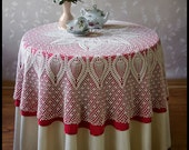 Crochet tablecloth Round tablecloth Lace tablecloth Crochet lace tablecloth Crochet Table covers table linens Wedding gift Unique gift