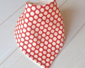 ORGANIC Baby Bandana Dribble Bib in 'Cream Coral' - an Eco Friendly gift idea from Cwtch Bugs