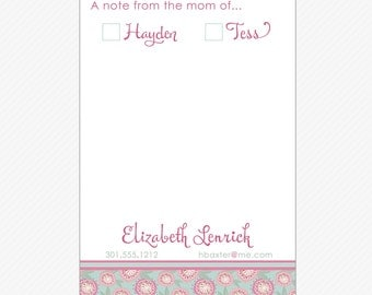 Personalized MOM NOTEPAD, Modern floral - printed pads by Libby Lane Press
