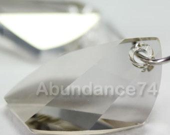 2 pcs Swarovski Crystal 6620 20mm Avante GardePendant - SILVER SHADE