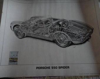 Porsche 550 Spyder Shin Yosikawa's  cutout art