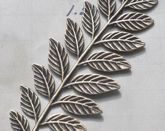 Brass Leaf spray stamping, Brass Ox