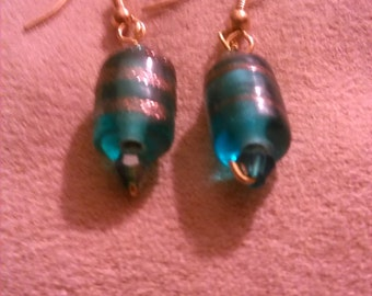 Teal Candy Drop earrings