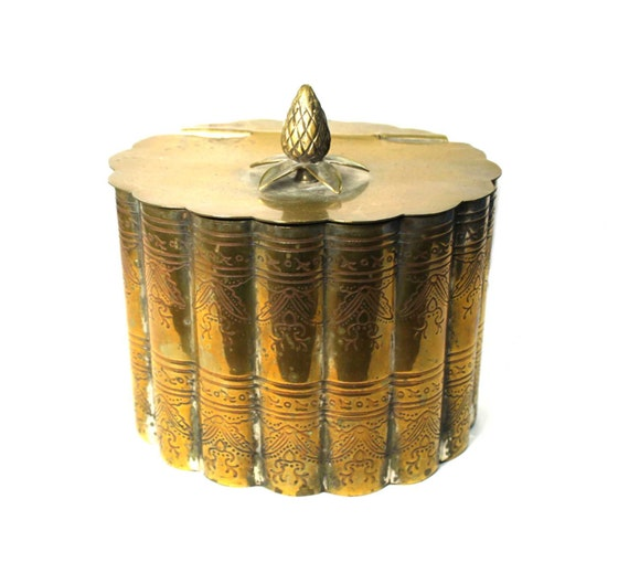 Silver Plate trinket box with pineapple handle- Hollywood Regency meets Cottage chic SALE 50% off