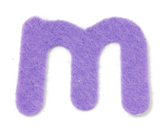 M felt alphabetic letters 2 4 inch iron on choose from 28 for Felt iron on letters for clothing