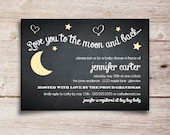 Love You to the Moon and Back Baby Shower Invitation