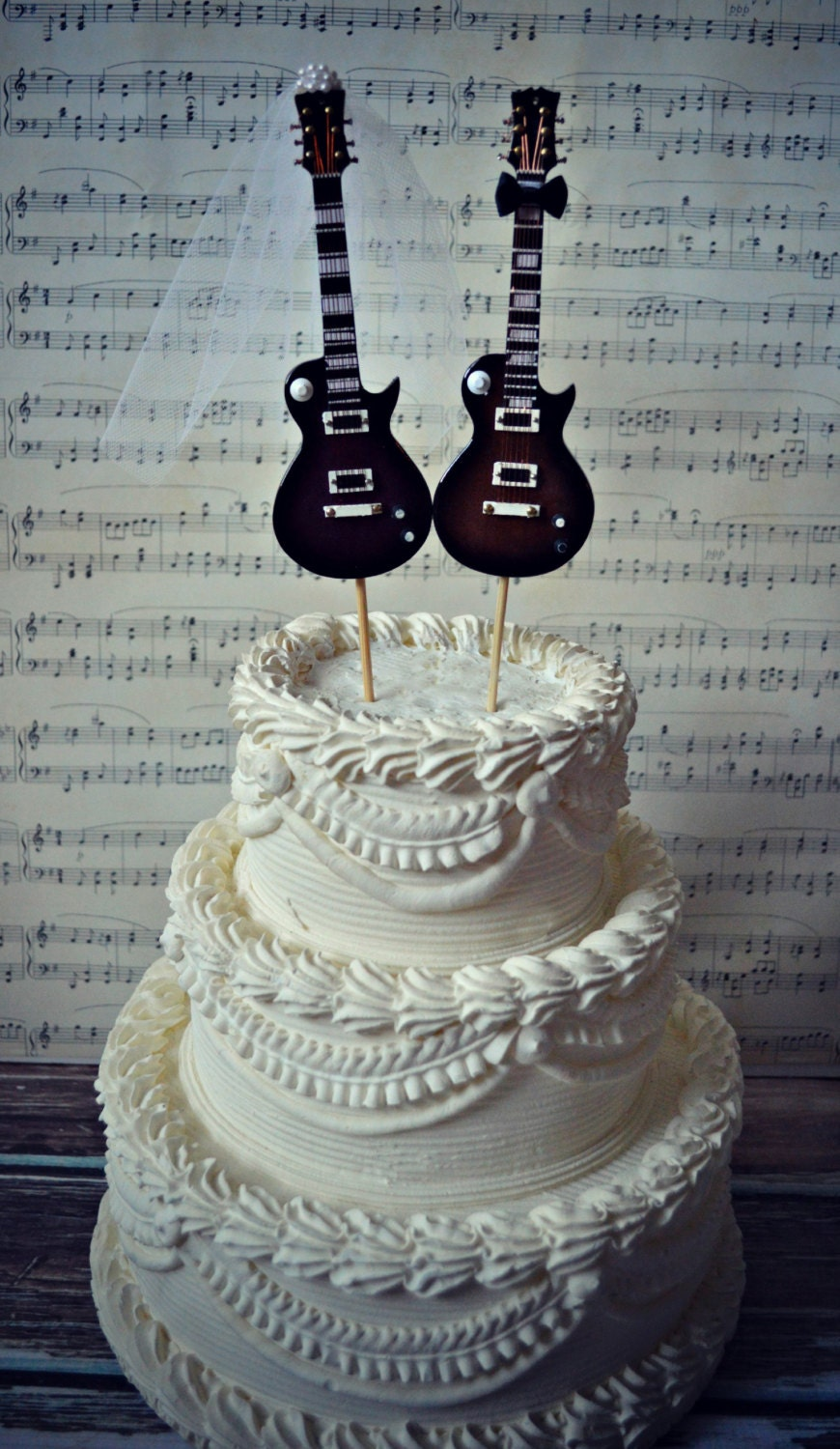 guitar wedding cake toppers electric guitar wedding cake topper guitar groom rock 15019