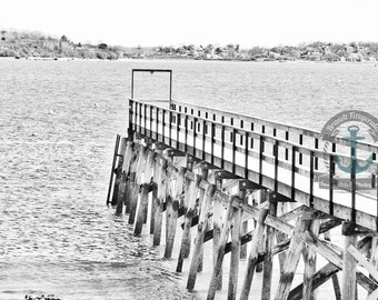 Quincy Landing Pier Boston Seascape Cityscape Photography Product Options and Pricing via Dropdown Menu