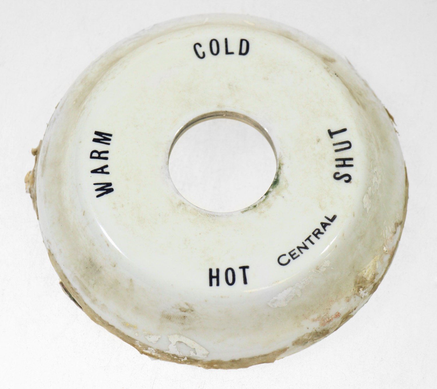 Central Porcelain Hot & Cold Indicator By Oldegoodthings