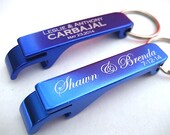 Bottle Opener - Custom Wedding Favor - Set of 20 Engraved Bottle Opener - Bride and Groom - Personalized Wedding Day Keepsake