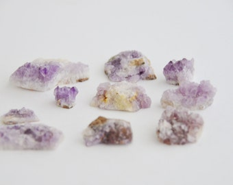 9 pcs small amethyst crystals from thunder bay, canada