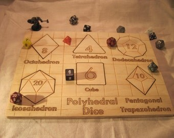 Polyhedral Gaming Dice Wooden Puzzle (6 pieces)