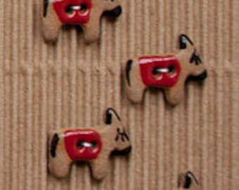 4 Donkey/Burrows - Ceramic Buttons