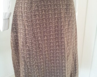 Brown wool skirt from the 60s