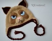 Cat Hat (Available in all sizes-Made to order) Grumpy cat hat