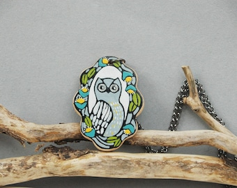 Long  Owl Necklace Owl Pendant Animal Necklace Vintage Inspired Woodland Necklace