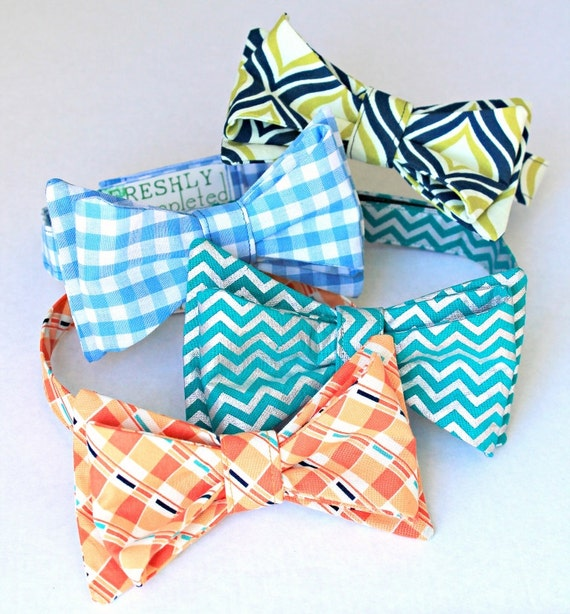 Bow Tie Sewing Pattern -- A Gentleman's Bow Tie--Sewing PDF file instant download