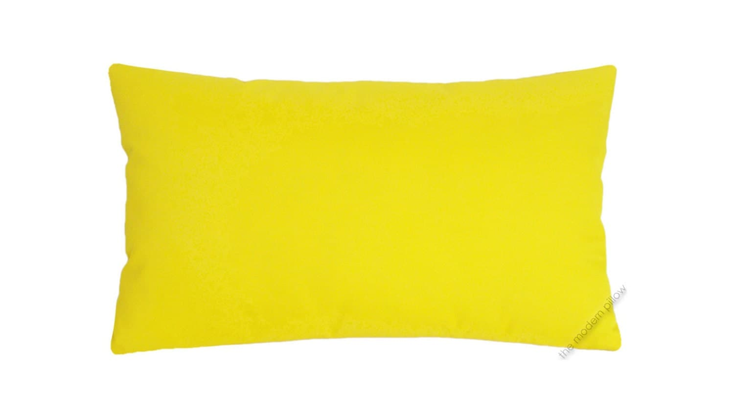 Bright Yellow Solid Decorative Throw Pillow by TheModernPillow