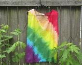 Tank Top, Rainbow Tie Dyed, Plus Size 3x