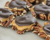 Homemade Caramel Pecan Turtles with Dark Chocolate - 8oz.